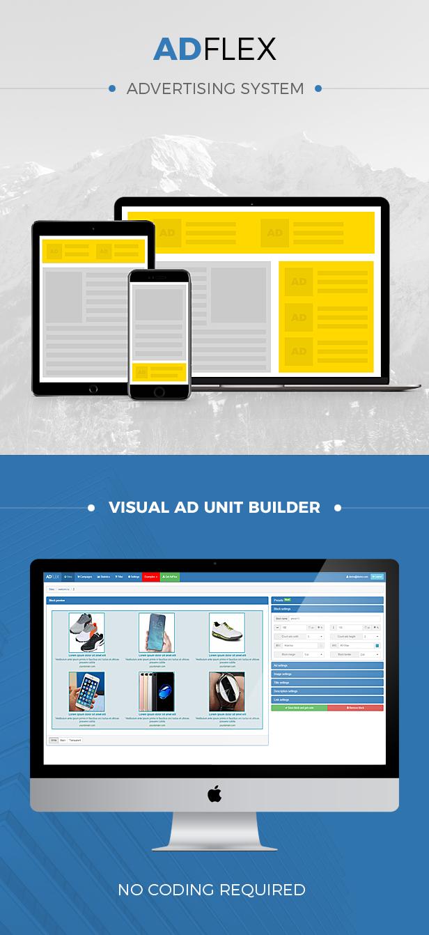AdFlex - ads management system - 1